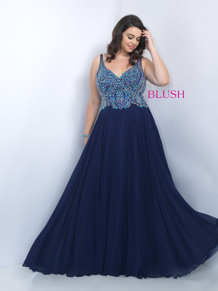 Blush W Plus size Prom 11058W