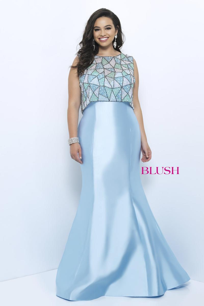 64039256332 Blush W Plus size Prom 11203W 2019 Prom Pageant Homecoming Formal ...