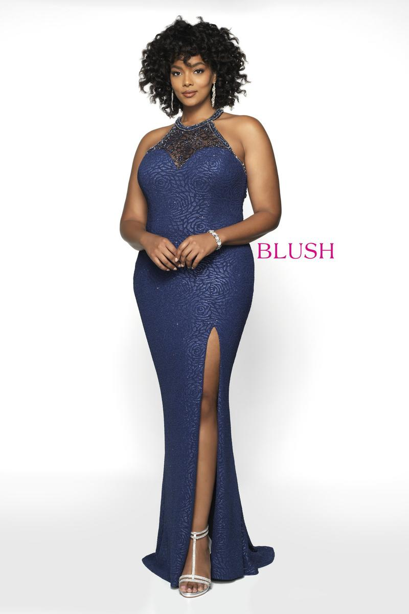 Blush W Plus size Prom 11702W