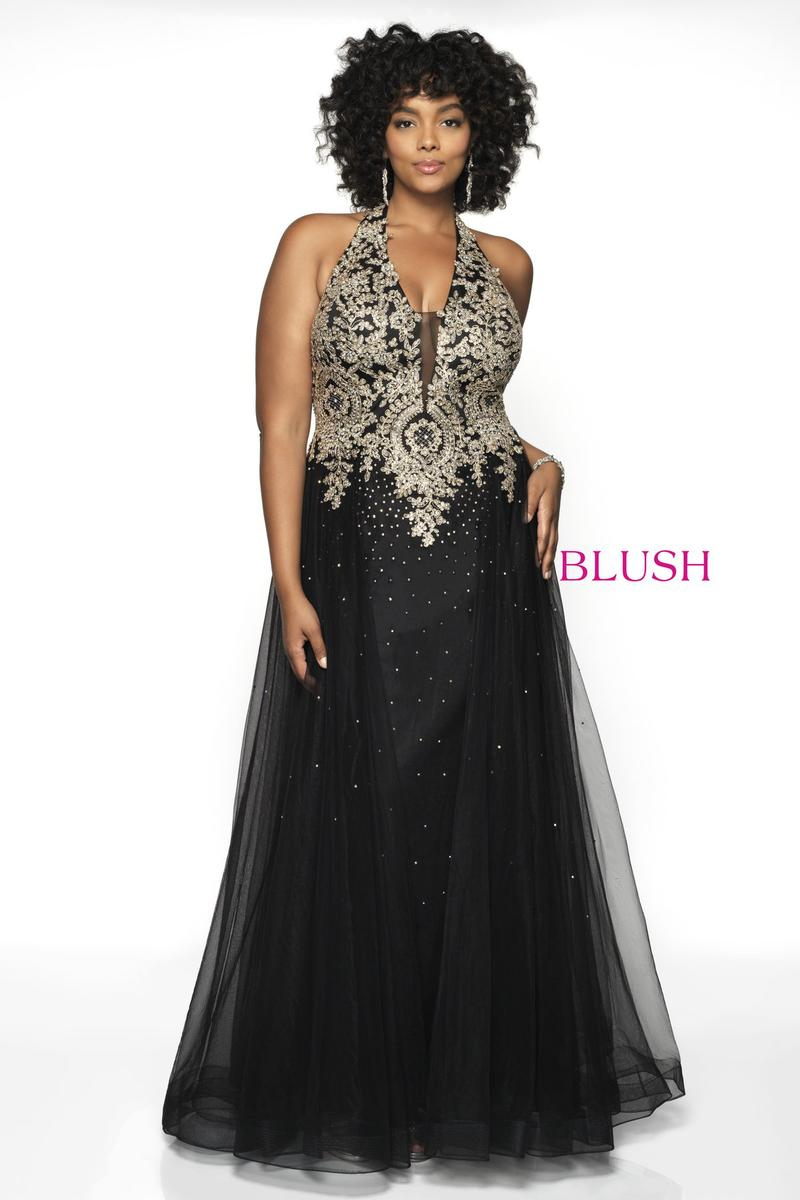 Blush W Plus size Prom 11706W