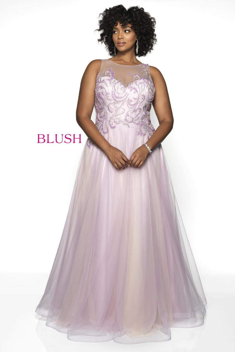 Blush W Plus size Prom 11729W