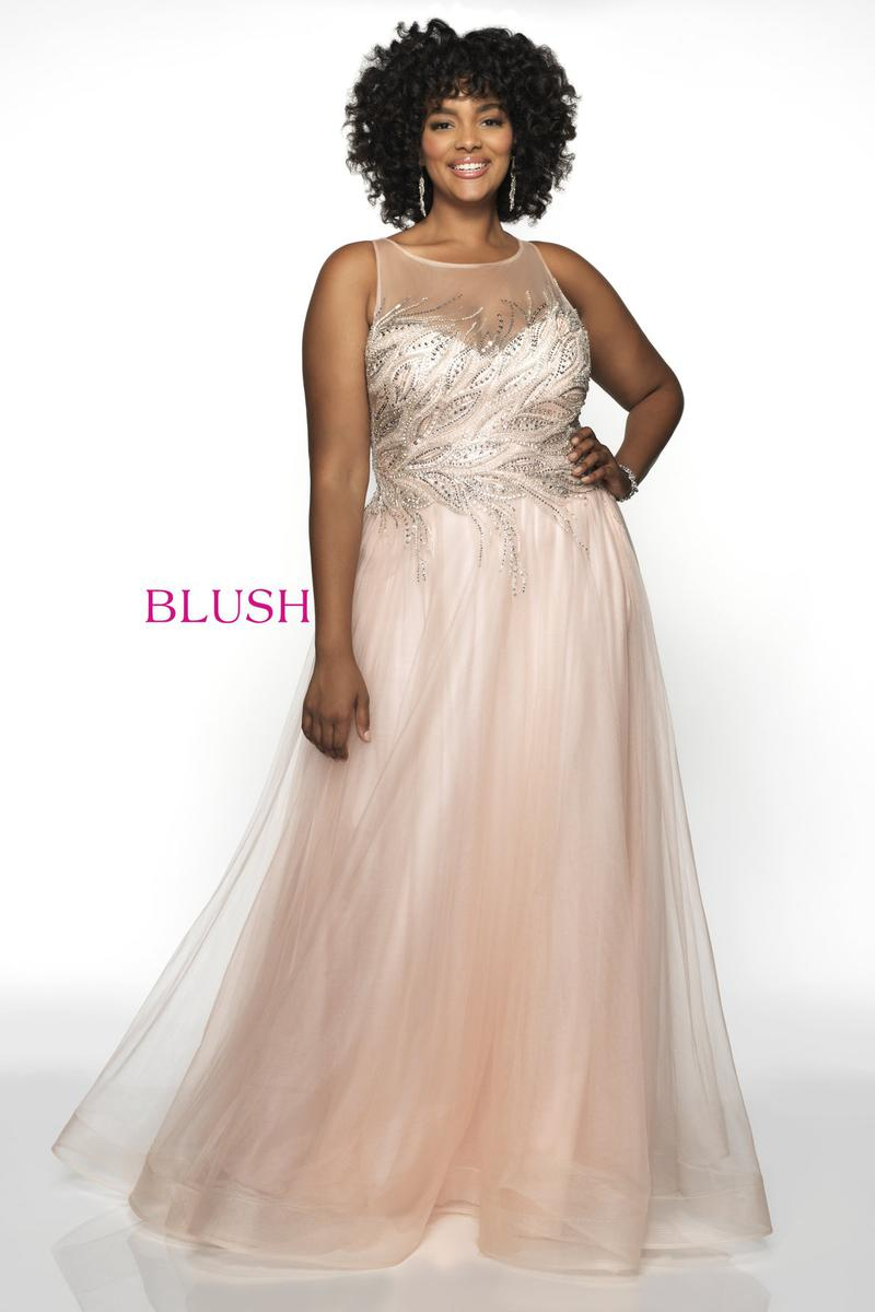 Blush W Plus size Prom 11748W