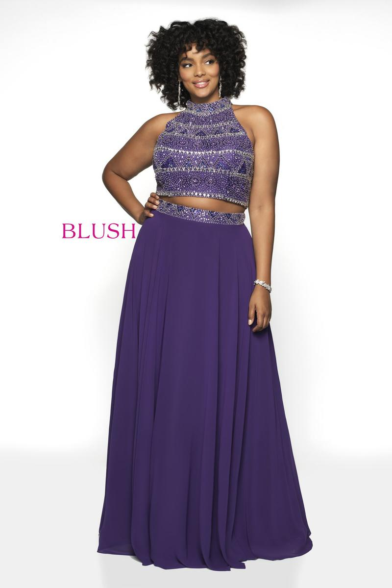 Blush W Plus size Prom 11794W