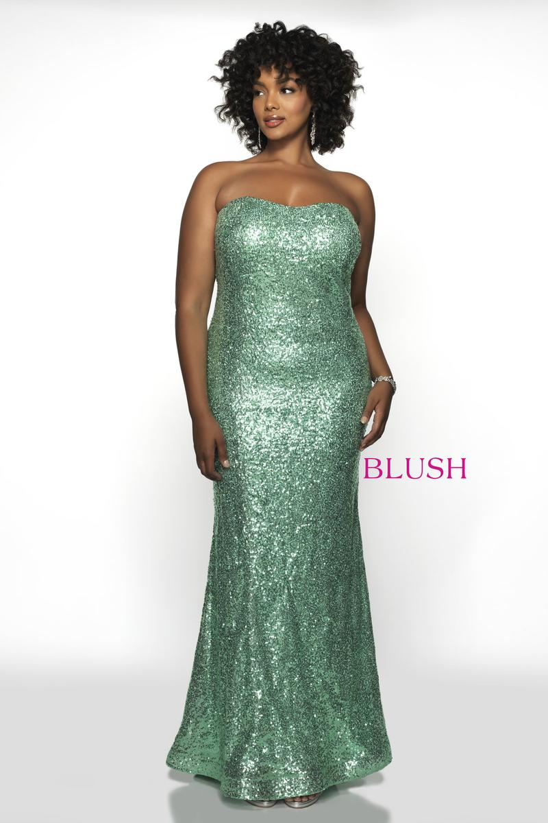 Blush W Plus size Prom 11799W