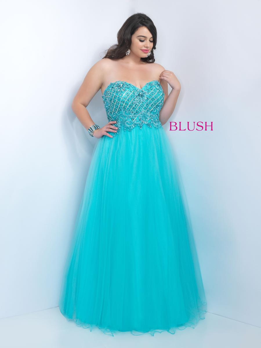 Blush W Plus size Prom 9111W