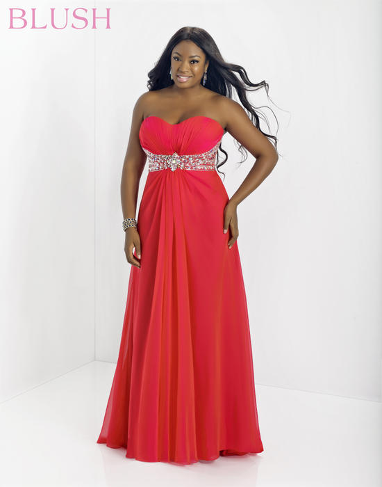 Blush W Plus size Prom