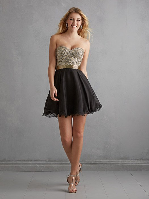 Night Moves Prom Dress Short