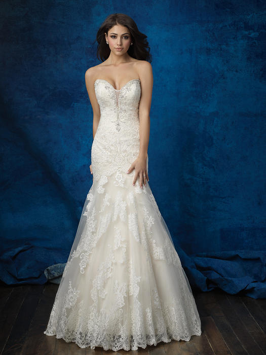 Allure - Strapless Embroidered Sweetheart