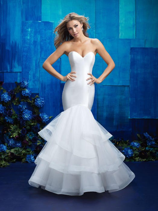 Allure - Strapless Satin & Tulle Mermaid