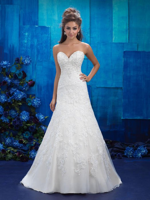 Allure - Strapless Lace Sweetheart A-Line