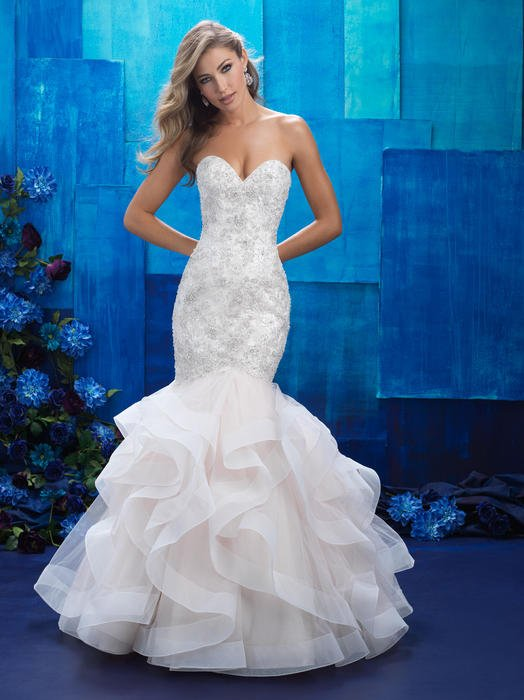 Allure - Strapess Embellished Tulle Mermaid