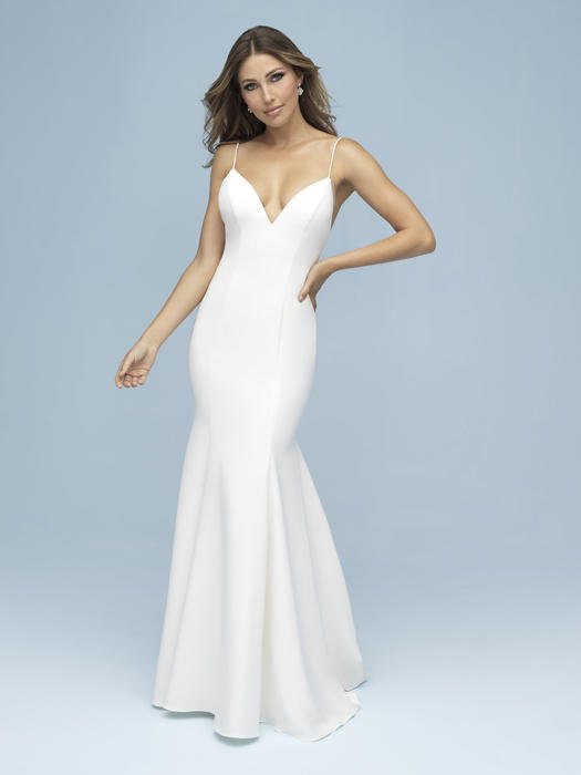 Allure - Spaghetti Strap Satin Bridal Gown