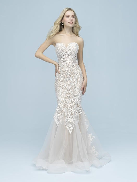 Allure - Strapless Sweetheart Lace Gown