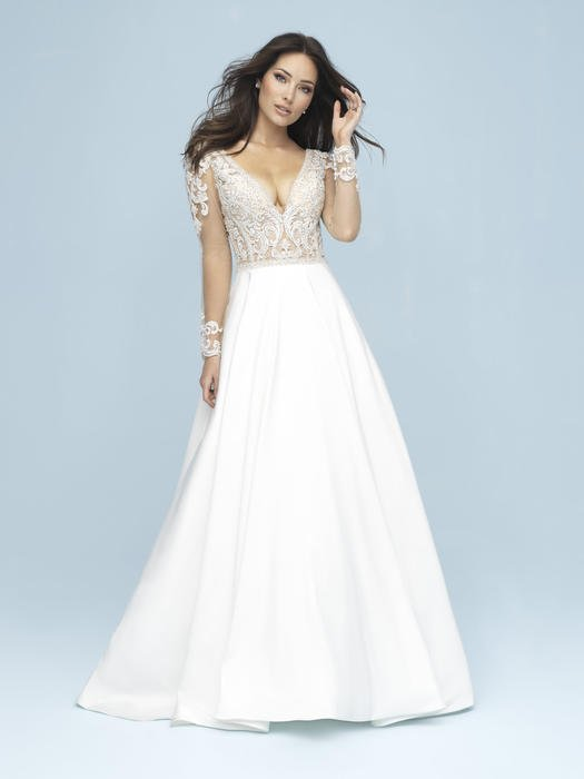 Allure - Long Sleeved A-Line Bridal Gown