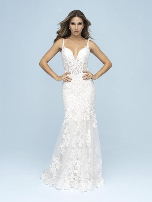 Allure - V-Neck Lace Illusion Bridal Gown