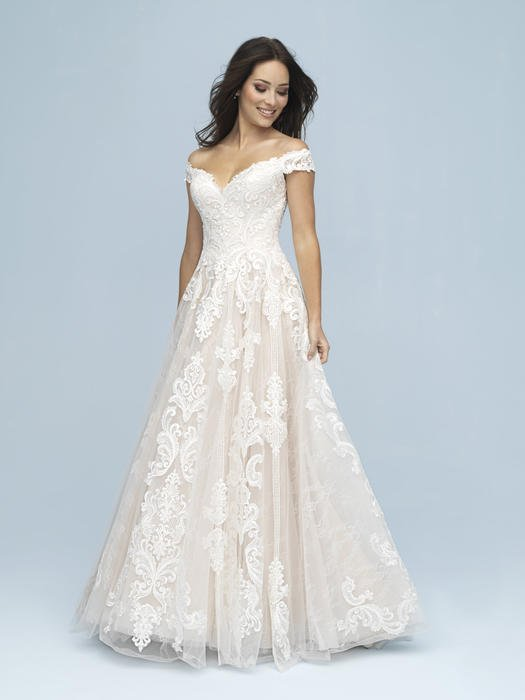 Allure - Off-Shoulder Lace A-Line Gown