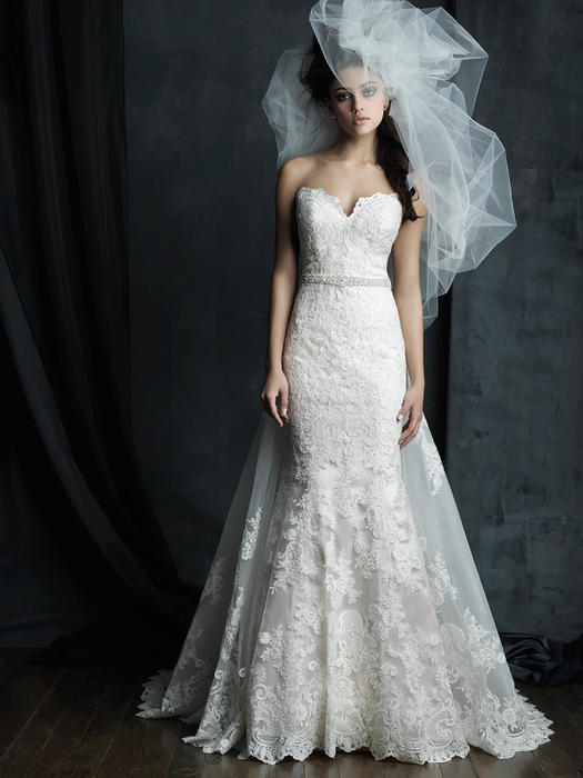 Allure - Strapless Embroidered Net Sweetheart