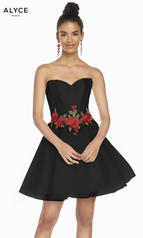 3867 Black/Red Rose front