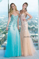 6390 Light Turquoise/Nude multiple