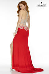 6535 Red/Nude back