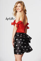 82028 Hot Red/Black Polka back