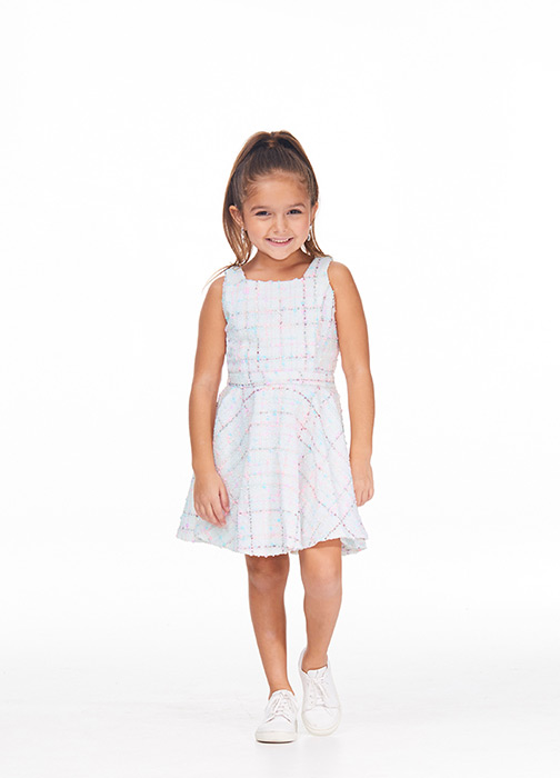 Kids Tweed Cocktail Dress