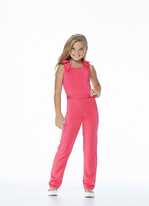 Kids Crepe Jumpsuit with Bow Shoulders