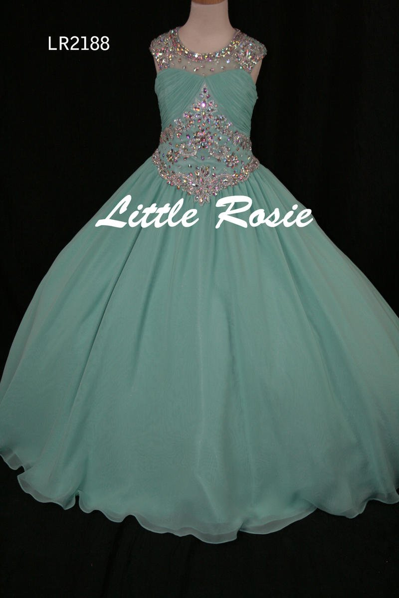 Little Rosie Girls Glitz Long Pageant LR2213
