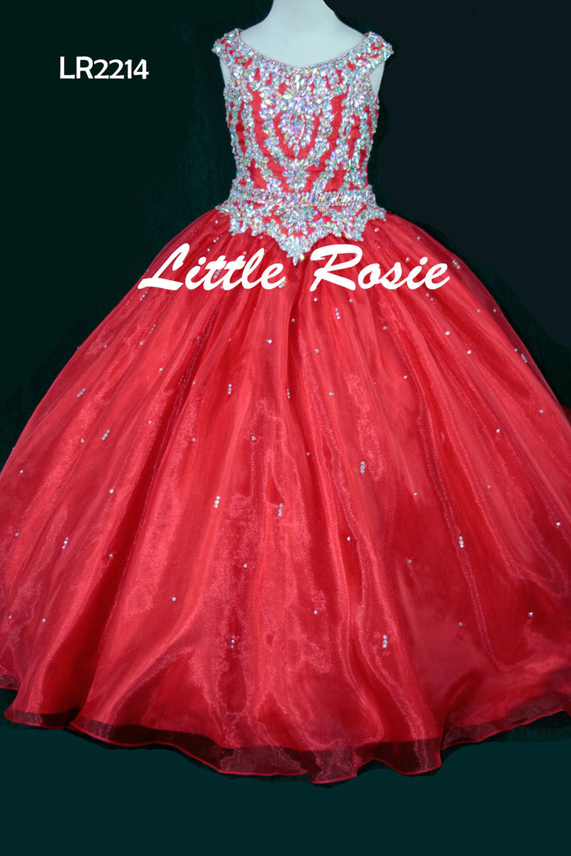 Little Rosie Girls Glitz Long Pageant LR2214
