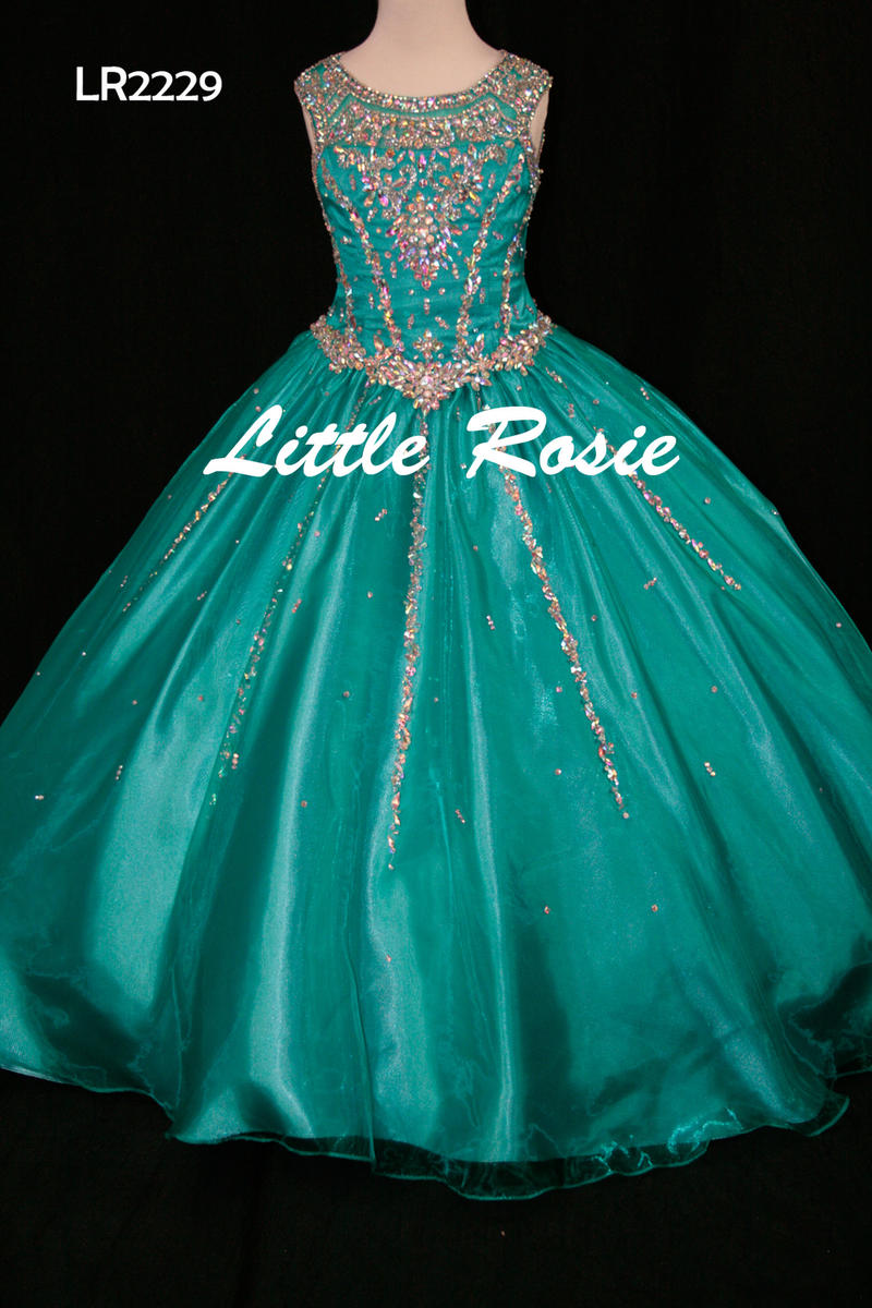 Little Rosie Girls Glitz Long Pageant LR2229