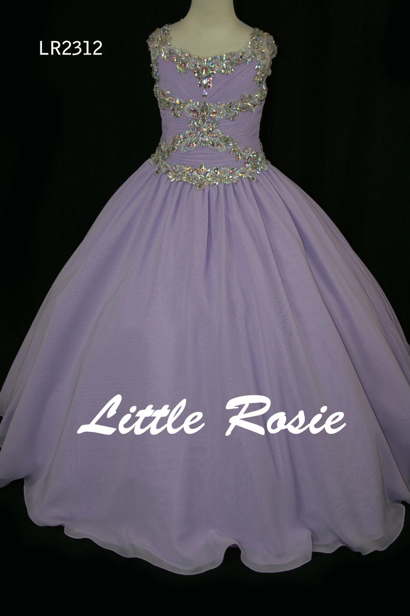 Little Rosie Girls Glitz Long Pageant LR2312