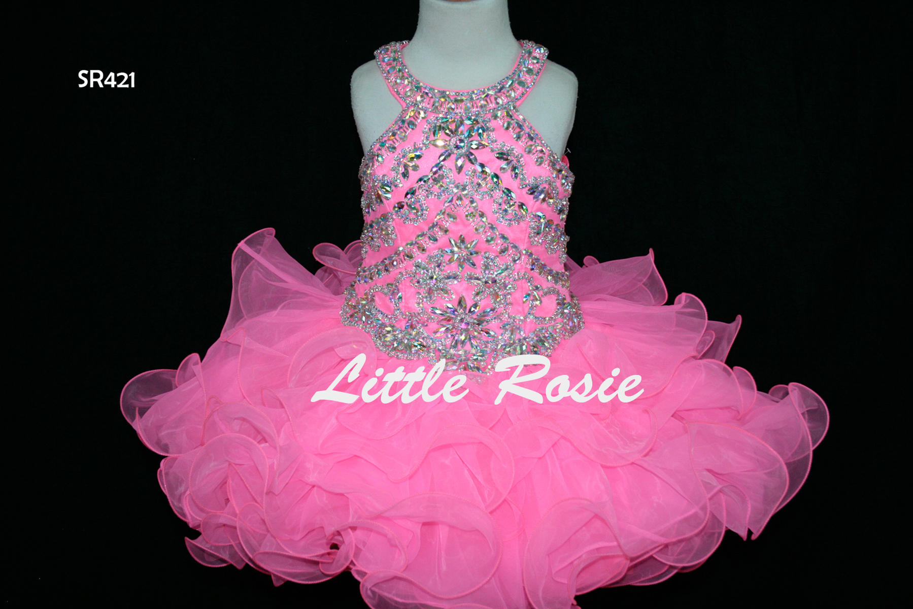 Little Rosie Girls Glitz Short Pageant SR421