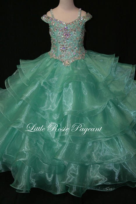 Girls Glitz Pageant Dresses-Long Skirt