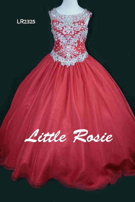 Little Rosie Girls Glitz Pageant Dress - Royal Blue