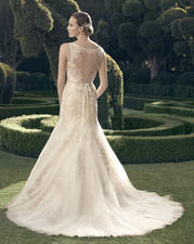 2171 Champagne/Ivory/Ivory Ribbonsash/Silver Lace back