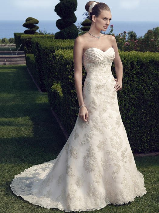 Casablanca - Strapless Lace & Tulle Sweetheart