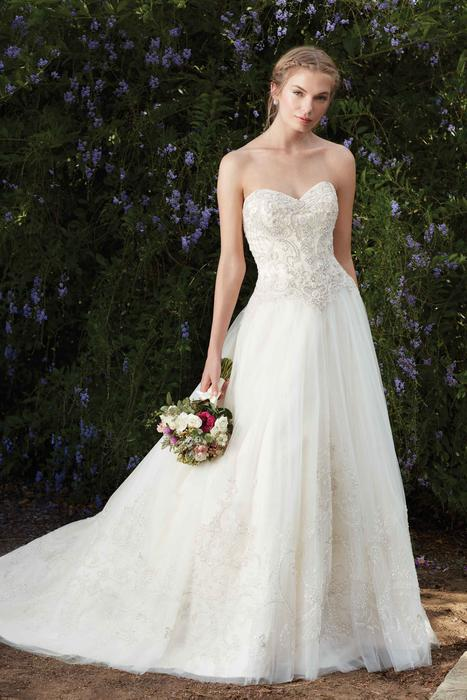 Casablanca - Strapless Embroidered Tulle A-Line