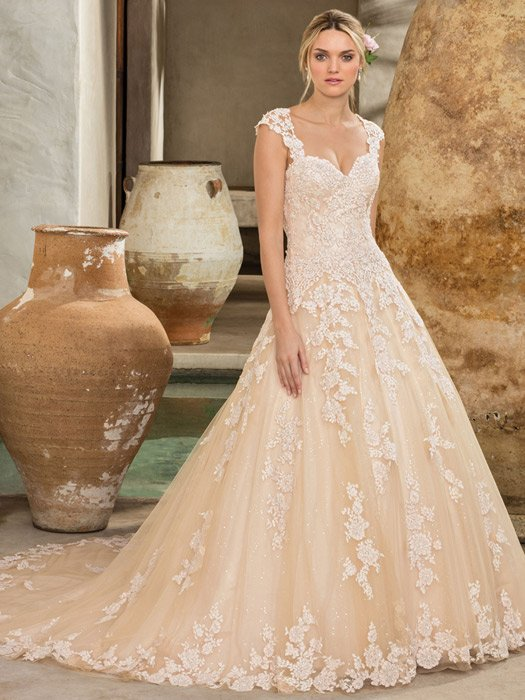 Casablanca - Embroidered A-Line Sweetheart Neckline Gown