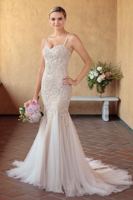 Casablanca - Strapless Beaded Tulle & Chiffon Fit & Flare Gown
