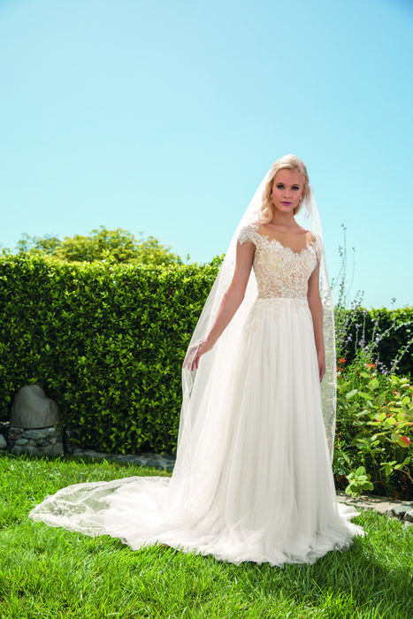 Casablanca - Beaded Chiffon Bridal Gown