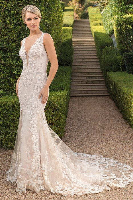 Casablanca - Sheath Floral Bridal Gown
