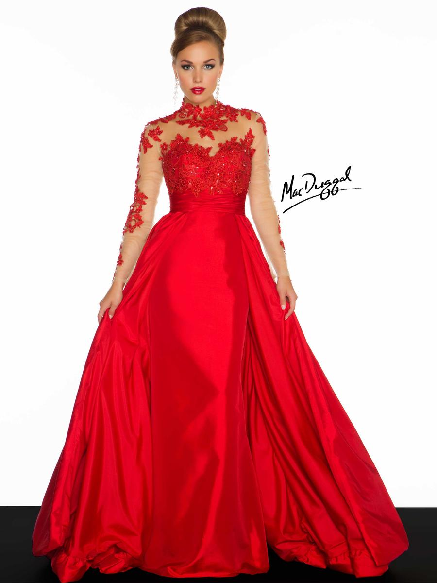 Mac Duggal Black White Red 2019 Dresses Viper Apparel Black White