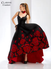 4943 Black/Red (w/Choker) front