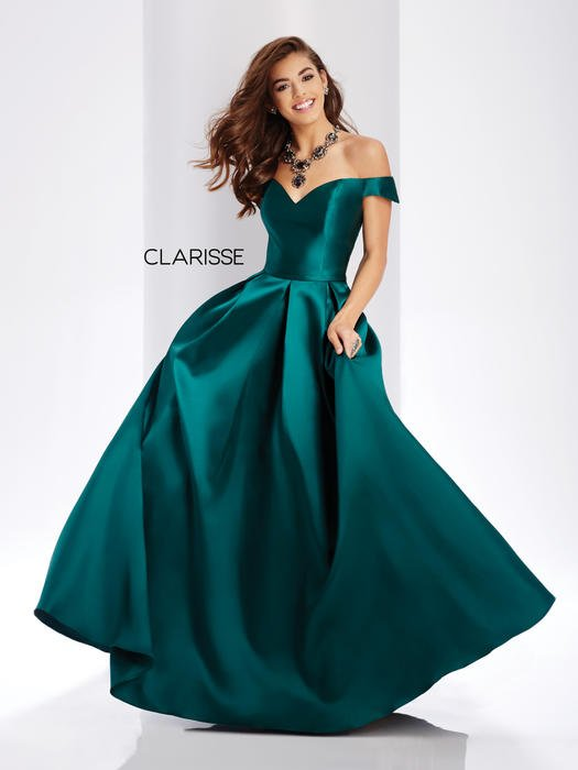 Clarisse - Satin Ball Gown Off the Shoulder
