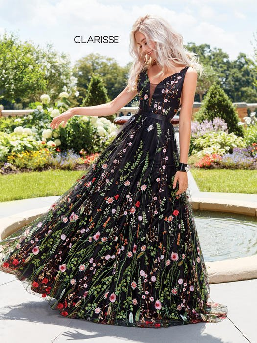 Clarisse - Embroidered Floral Tulle Ballgown