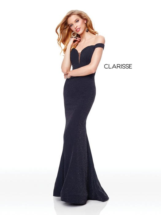Clarisse - Off the Shoulder Jersey Gown