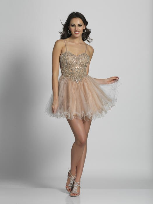 Dave and Johnny - Embellished Tulle Fit & Flare Dress