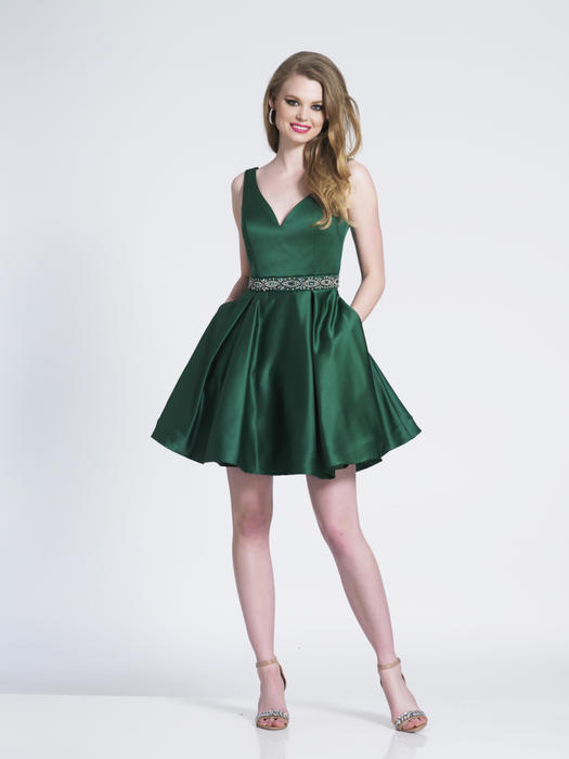 Dave and Johnny - Satin Dress Beaded Waist