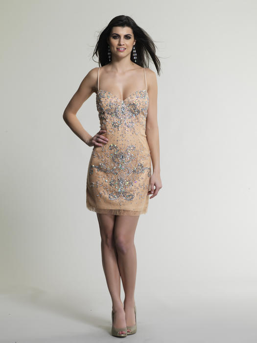 Dave and Johnny - Lace Bead Dress-XX Back