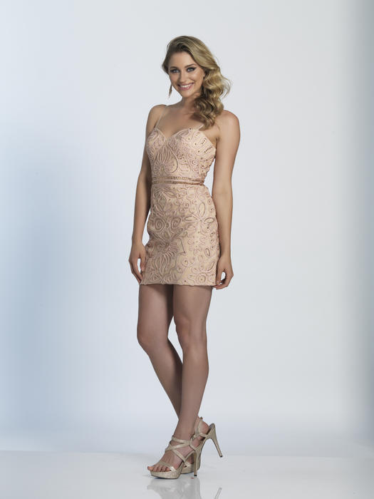 Dave and Johnny - Short Lace Spaghetti Strap Dress